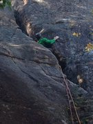 Rock Climbing Photo: Thrutching through the wide start