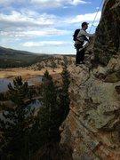 Rock Climbing Photo: Don Silver following pitch 2.