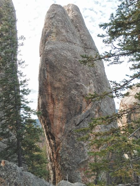 Rock Climbing Photo: North face Aquarium the striking arête on the lef...