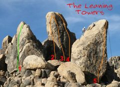 Rock Climbing Photo: Leaning Towers