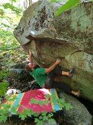 Rock Climbing Photo: One stout move