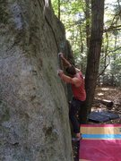 Rock Climbing Photo: The easy opening moves