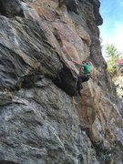 Rock Climbing Photo: Tim Mijal turning the corner