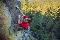 Rock Climbing Photo: Near perfect position out above Flagstaff, AZ