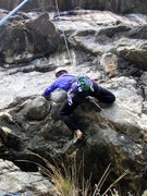 Rock Climbing Photo: This is the crux move (for us). Add. The roofs abo...