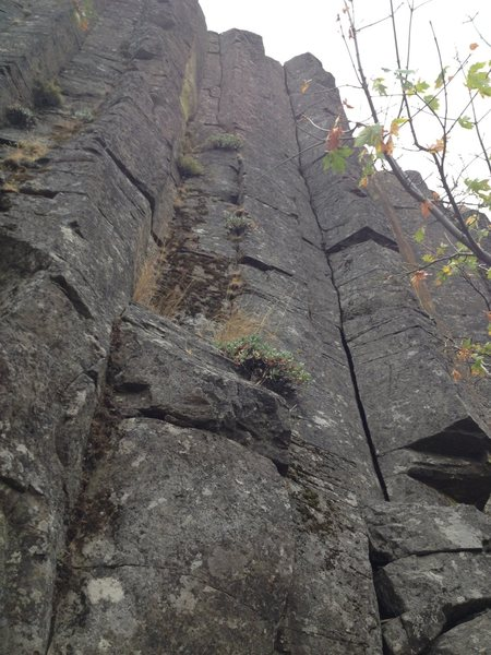 Rock Climbing Photo: One of the few hand cracks.