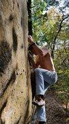 Rock Climbing Photo: Jonathan at the crux