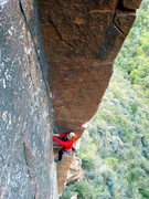 Rock Climbing Photo: Tom onsighting the excellent first pitch.