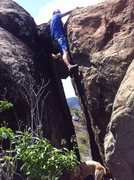 Rock Climbing Photo: Between the big boulders there is a nice way up ea...