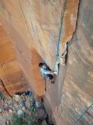 Rock Climbing Photo: Tom cranking the roof.  A short but beautiful pitc...