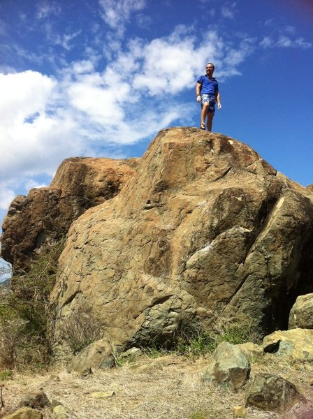 Rock Climbing Photo: On top of the west Boulder,,,easy lots of holds u ...