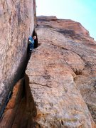 Rock Climbing Photo: All smiles, onsighting this sweet route.  The wild...