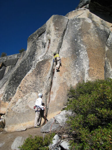 """Rock Climbing Photo: Leading """"Ivory Tower - Center"""" (5.10a). ..."""