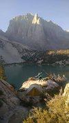 Rock Climbing Photo: Not a bad spot to canp