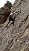 Rock Climbing Photo: So Much Man (Josh) on the lower section of Bosch S...
