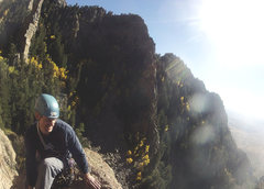 Rock Climbing Photo: Chimney canyon from football ledge