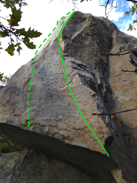 Rock Climbing Photo: Edges starts at the low jug on the arete and heads...