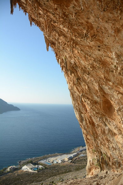 A view from inside the Grande Grotta