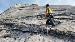 Rock Climbing Photo: Brian looking up the 2nd pitch and the rest of the...
