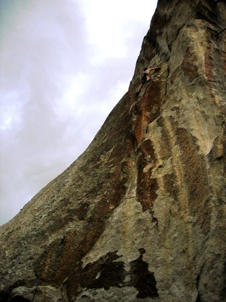 Rock Climbing Photo: Jeff sendin' the Rat Writ on the FA.