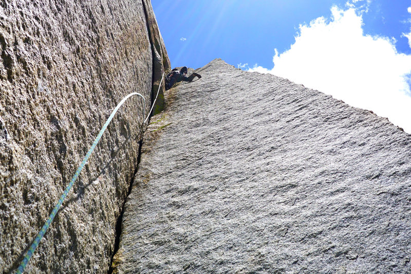 Rock Climbing Photo: upper corner. so clean brah