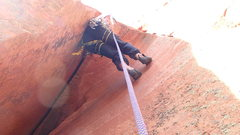Rock Climbing Photo: Starting the Falling Petal pitch