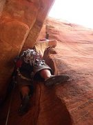 Rock Climbing Photo: Scott Greenhalgh established in the flare