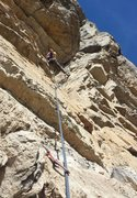 Rock Climbing Photo: Eric E. on the 14th corner pitch-  Sept 2015