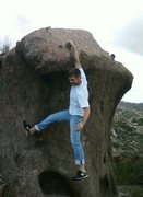 Rock Climbing Photo: First time climbing outside. Poppin cherrys and us...