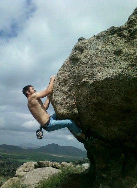 Hill top bouldering.