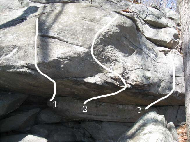 Talus Roof boulder problems