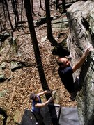 Rock Climbing Photo: Nearing the top of Kal-el