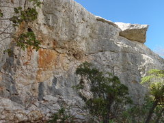 Rock Climbing Photo: Pelican cove big wall 3 40 feet flat with  roof...