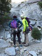Rock Climbing Photo: Checking out the topo on The Grack - Yosemite Vall...