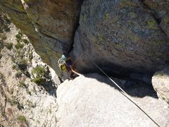 Rock Climbing Photo: Here's Jenny Antin starting the the wide step-acro...