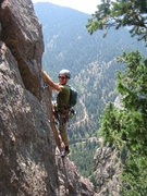 Rock Climbing Photo: Rebuffat's Arete! Dave at belay.