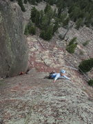 Rock Climbing Photo: Kat A. searches for holds on Emission Control (5.1...