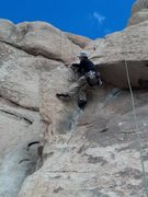 Rock Climbing Photo: Hagny TR styling the roof with hat and sunglasses.