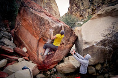 The Red Dragon V6/7 <br />Seen Here: Zack Barbee <br />Photo Credit: Eric Hunter