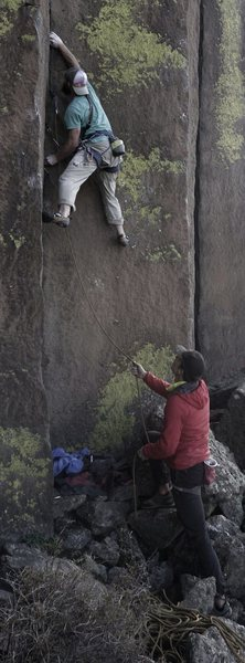 Rock Climbing Photo: The start has a bit of a stemming crux.
