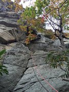 Rock Climbing Photo: Ben at the crux on a nice fall day
