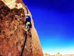 Rock Climbing Photo: Pulling the last few fist jams before the layback ...