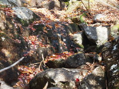 Rock Climbing Photo: Steep, slimy streambed...if you get here you're 40...