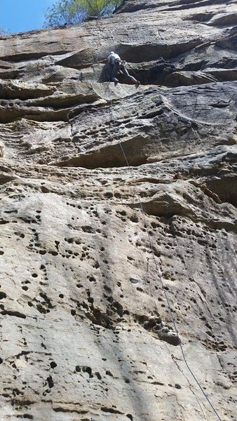 Rock Climbing Photo: one of the good rest ledges near the top