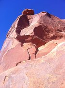 Rock Climbing Photo: 3rd pitch, and welcome bolt near the top