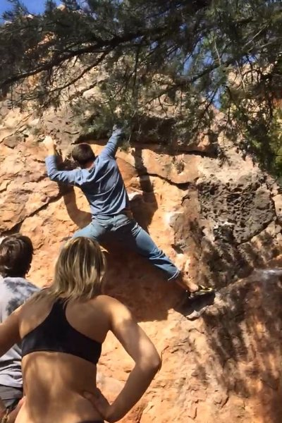 Bouldering in Sedona