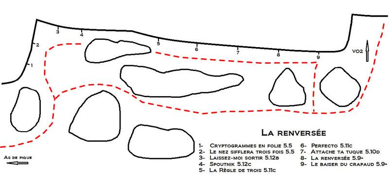 Rock Climbing Photo: La renversée (voies/routes)