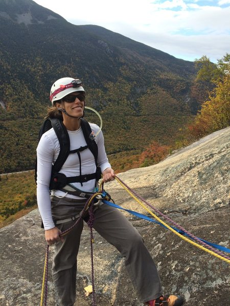 Rock Climbing Photo: Trad climbing near Crawford Notch in NH