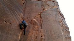Rock Climbing Photo: Me pulling the crux.