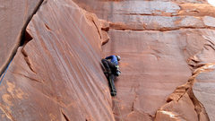 Rock Climbing Photo: Me a little higher up in the fun crack.